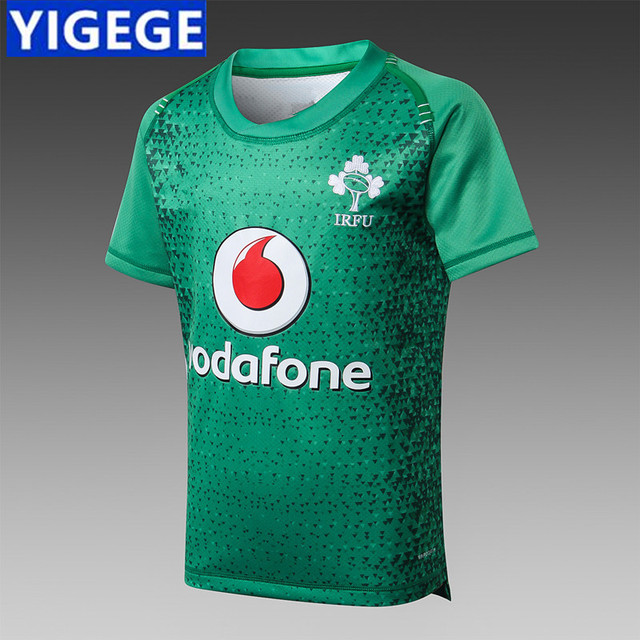 official photos 3d98b 24f5f US $16.59 21% OFF|YIGEGE Ireland IRFU kids JERSEY 2019 Rugby clothes, Irish  rugby jerseys national team New ireland Rugby Jersey size :16 20 26-in ...