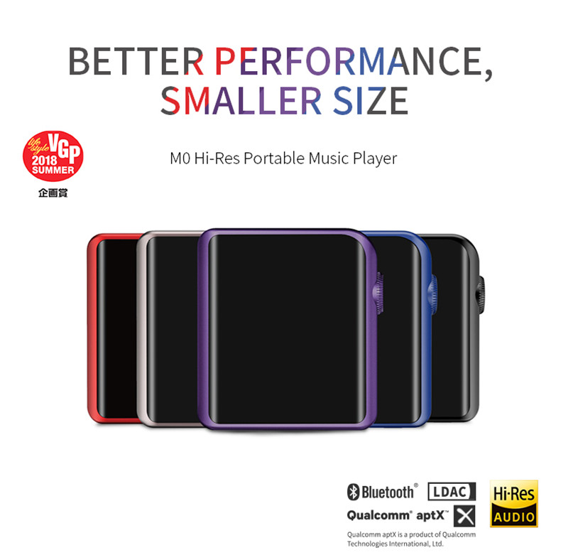 Xiaomi SHANLING M0 ES9218P 32bit 384kHz Bluetooth AptX LDAC DSD MP3 FALC Portable Music Player Hi
