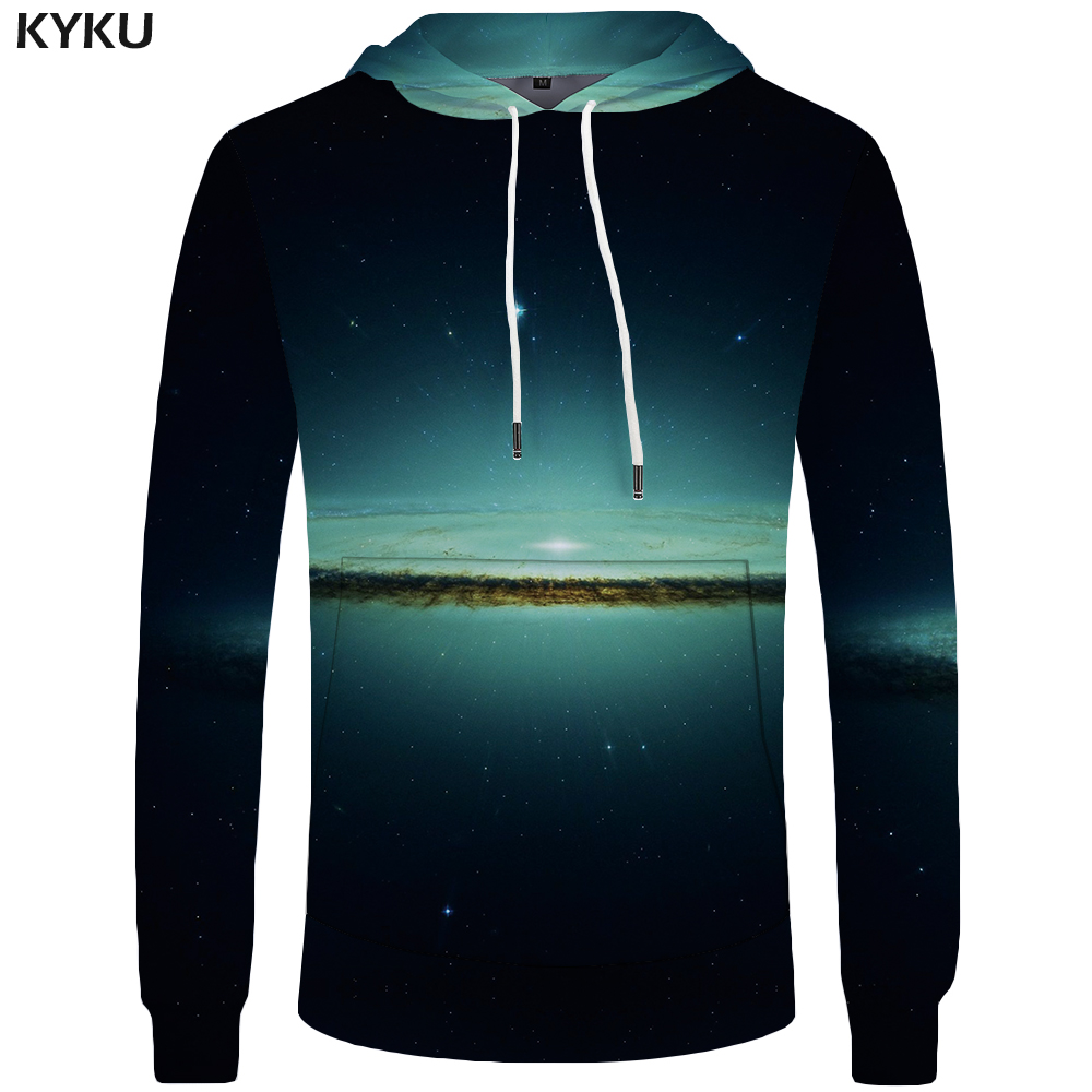 KYKU Brand Galaxy Hoodies Men Water Hoddie Black Sweatshirts Casual Sweatshirt Big Size Mens Clothing 3d Hoodies Cool ...