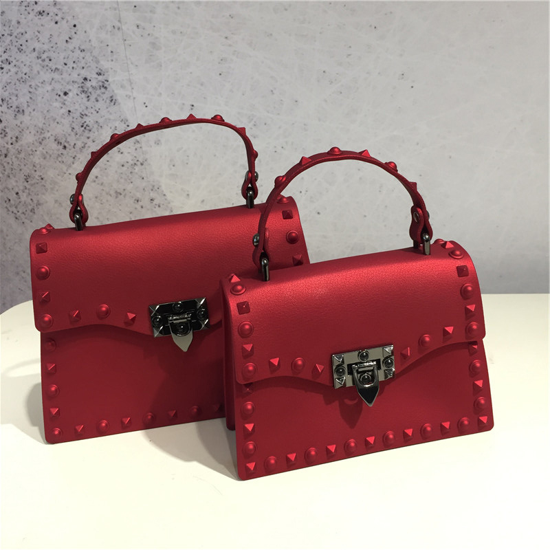 Luxury Women Handbag Rivet Jelly Bag Women Shoulder Messenger Bag Party Matte Designer Leather Bag Vitage Small Square Bag shoulder bag