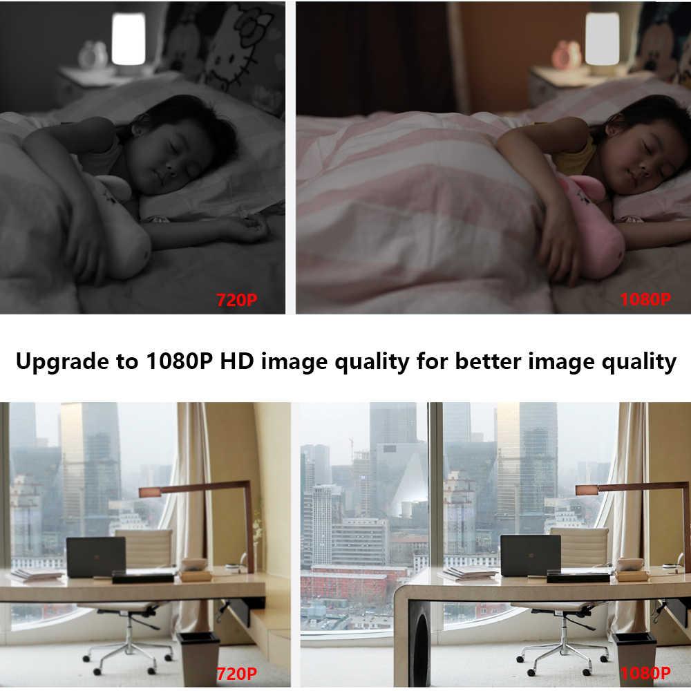 2018 nueva cámara inteligente Xiaomi Mijia Original versión PTZ 1080P visión nocturna Webcam 360 ángulo videocámara WiFi inalámbrico mudo