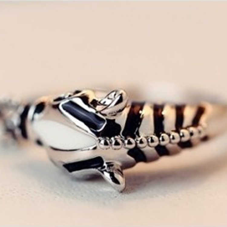 1 Pcs Hot Sale Female Fashion Zebra Horse Head Adjustable Index Finger Opening Ring Characteristic Jewelry Drop Shipping