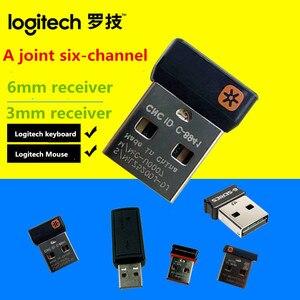 Oryginalny Tiny Unifying USB klucz odbiorczy dla Logitech mysz i klawiatura może podłączyć do sześciu (6) urządzeń w/Unifying Logo
