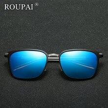 ROUPAI 2017 New Brand Squared Polarized Sunglasses Vintage Metal Frame Male Driving Glasses Eyewear HD Luxury Sun Glasses