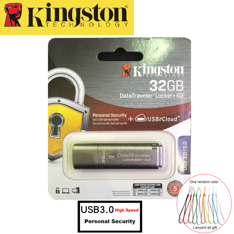 Kingston USB Flash Drive 32GB USB 3.0 Metal Pendrive Personal security usb drive high speed Memoria Stick cle usb 32gb pen drive usb flash drive 32gb союзмультфлэш барашек fm32a7 35 lw