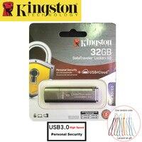 Kingston USB Flash Drive 32 GB USB 3.0 Pendrive De Metal de Segurança Pessoal Drive usb Memoria Vara cle usb 32 gb Pen Drive de Alta Velocidade