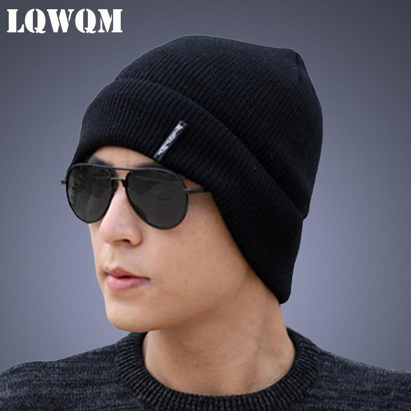 LQWQM Chapeaux Pour Hommes Bonnet Tricoté Chapeaux D hiver Hommes Chapeau  Bonnets Skullies Automne Gorros Nouveau 78cdeeb7ac9
