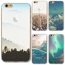 TPU Cover For Apple iPhone 4 4S 5 5S SE 5C 6 6S 6Plus 6SPlus 7 7+ Case Painting Volcano Eruption Silicon Forest Sea Wonder Magic