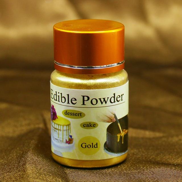 10 gramos de oro pastel comestible polvo colorante para decorar Chocolate Fondant decoración artes grado alimenticio, pigmento Fondant