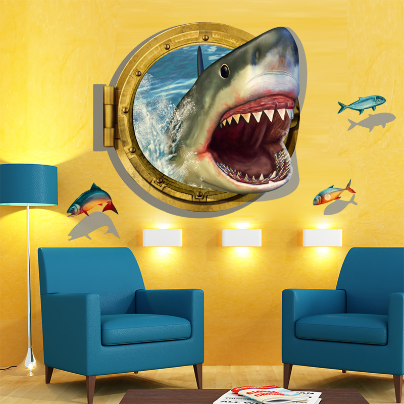 Finding Nemo Under Sea Shark Fish 3D Cartoon Waterproof Vinyl Wall ...