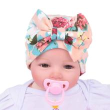 93e4ca1f791 Baby Girls Hats Flower Bowknot Beanies Infant Kids Comfortably Cotton Children s  Hat Newborn Hospital Caps 2018