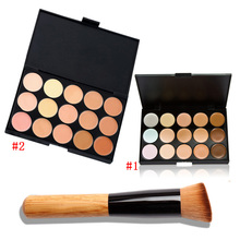 15 Color Fashion Women Professional Makeup Cosmetic Contour Concealer Palette Make Up+Concealer Brush
