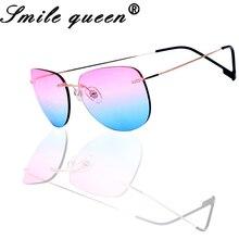 Tinize ultraligero mujeres Gafas sin montura De titanio De memoria colorido Gafas De Sol polarizadas Gafas hombres Gafas De Sol Mujer