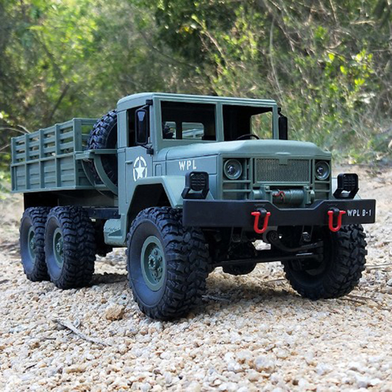 WPL B-16 2.4G RC Car 1:16 Machine Remote Control 6 Wheel Drive Tracked Off-Road Military Upgrade Truck Electric Toy kids Gift