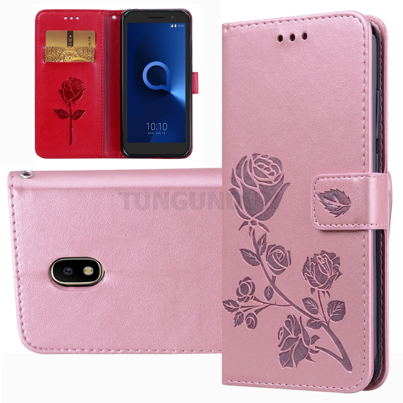 PU Leather Flip Cover For <font><b>Alcatel</b></font> 3X 1 3 7 1C 3C 3V 5V 1S 1X 3L 5009 5052 5033D 5099D 5026D 5003D 5060D 2019 5008Y <font><b>5039D</b></font> 5053 image