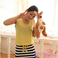 lovely plush kangaroo toys cute stuffed kangaroo monther&baby birthday gift about 45cm