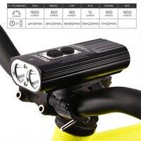 Nitenumen x8 recarregável farol da bicicleta à prova dwaterproof água 1800 lumens usb led de alto desempenho 18650 li ion carregamento usb bicicleta luz headlight bicycle light rechargeable bike light bicycle light -