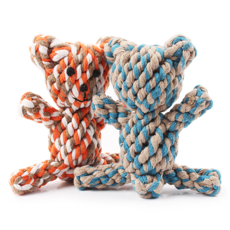 New Designer Bear Rope Pet Dog Cat Toy Molar Teeth Chew
