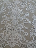 beautiful ZH 112932 french net lace fabric with high quality nigerian embroidered lace fabric with full beads