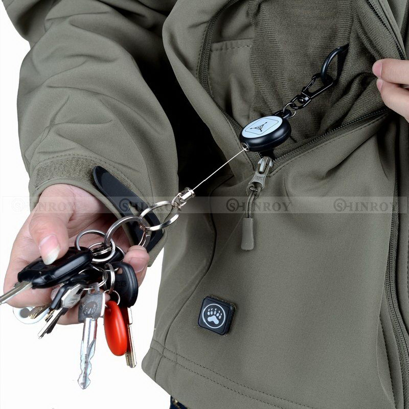2PCS EDC Outdoor Tool Steel Rope Burglar Keychain Tactical Retractable Key Chain Camping Key Ring