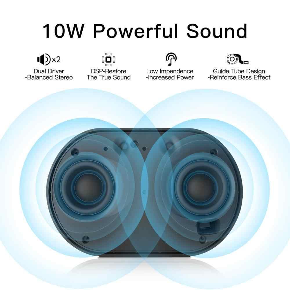 GGMM E2 بلوتوث المتكلم WIFI اللاسلكية المتحدثون 10W قوية المحمولة بلوتوث مكبرات الصوت من 15H اللعب-الوقت مع اليكسا المتحدث الذكية