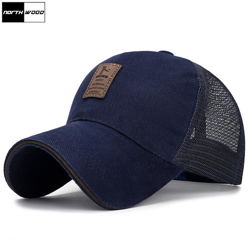 [NORTHWOOD] Summer Baseball Cap Mesh Cap Men Women Bone Snapback Trucker Cap Solid Dad Hat Casquette Homme