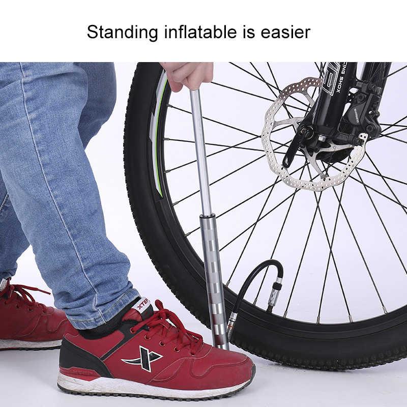 Велосипедные насосы с 160 пси-Калибр высокого давления двойной велосипедный напольный насос игла для впуска воздуха Schrader Presta клапан ручной велосипедный насос