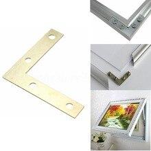 Brand New 100PCS/LOT 51*51*10mm Gold Flat Corner Right 90 Degree Angle Bracket Repair Plate Fixing Brace