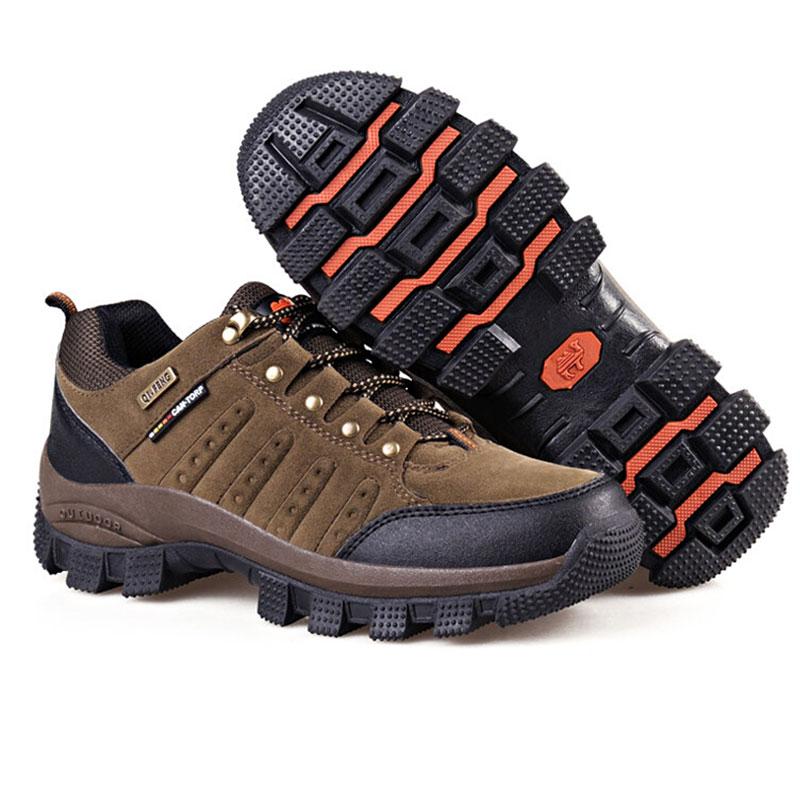 Hot Sale Men's Mountain Shoes Waterproof Outdoor Hiking Climbing Shoes Athletic Trekking Sports Sneakers Big Size EU 38--47 tfo women climbing breathable trekking hiking shoes woman outdoor athletic waterproof mountain sports sneakers 844543