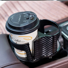 Universal Car Drinks Holder 2 Cups Bottle Holder Stand Car Organizer Mount Adjustable Beverage Auto Truck(China)