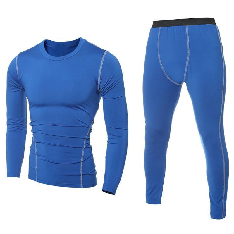 FDWERYNH Men Pro GYM Fitness Compression Sets Quick Dry Capri Legging + Top Workout Train Exercise Sport Yoga Pants+Shirts