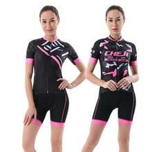 Racing Bicycle Jersey Set Women Reflective CHEJI Cycling Jersey Mountain Bike Shorts Kit Maillot Ciclismo Cycling
