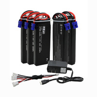 5pcs 7 4V 2700mAh 10C Hubsan H501S Lipo Battery With Cable For UL Charger RC Quadcopter