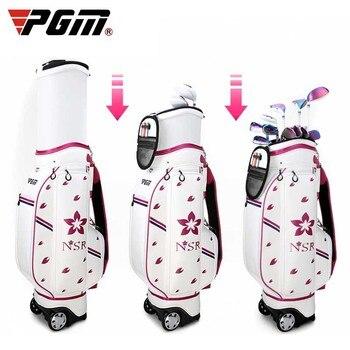 Cheaper Golf Bag Travel Wheel Standard Stand Golf Cart Bag Professional Golf Set Hold 13 Clubs Standard Ball Travel Trolley Bags D0648