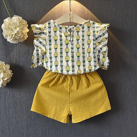 tops shorts calcas 2 pcs set bebe