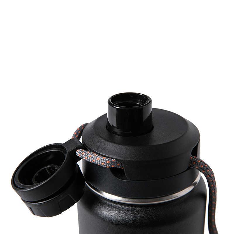 Santeco 710 мл Термос бутылка на веревочке с двойными стенками из нержавеющей стали кофе чай молоко открытый подарок Вакуумная бутылка