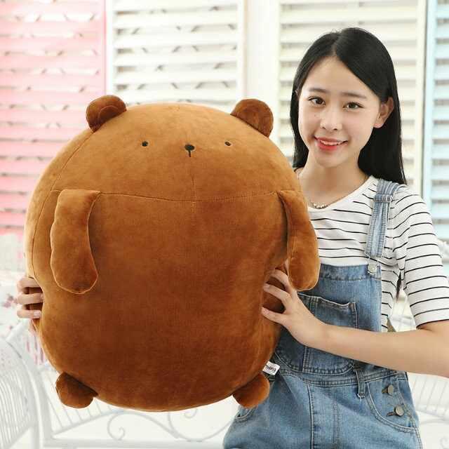 Супер мягкие милые Molang медведь мультяшный персонаж милый кролик толстый милый плюш мягкие игрушки животные Подушка подарок для детей