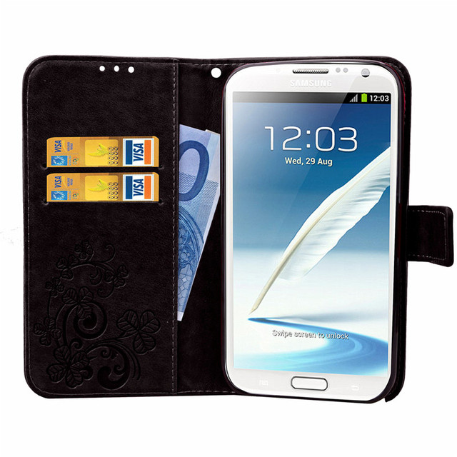 check out 10cac 6c54d US $3.99 20% OFF|For Samsung Galaxy Note 2 Case Leather Wallet Flip PU Case  For Samsung Note 2 N7100 Note2 Soft Silicon Phone Cover Funda-in Wallet ...