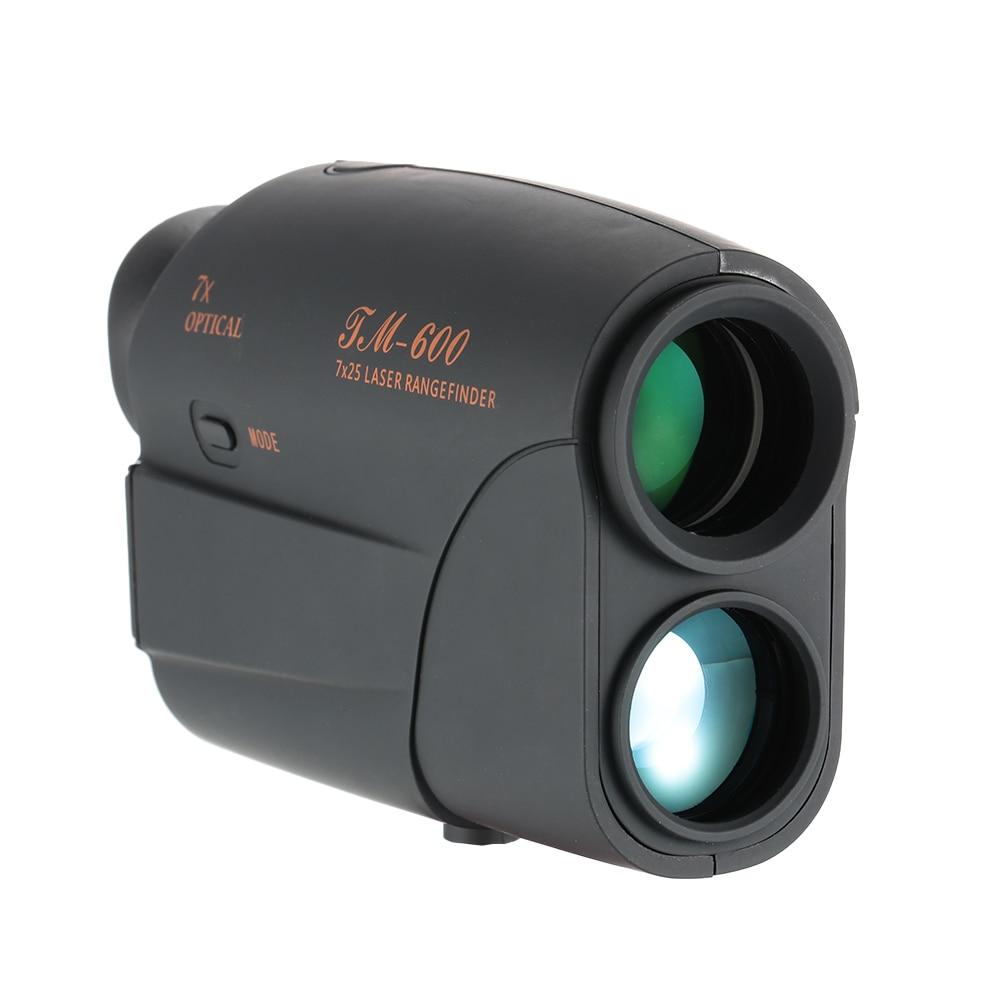 Compact 7X25 Telescope laser Rangefinder 600m laser Range Finder Golf Rangefinder Hunting Monocular Distance Meter Speed Tester lixf uyigao monocular laser rangefinder handheld telescope 5 x 600m