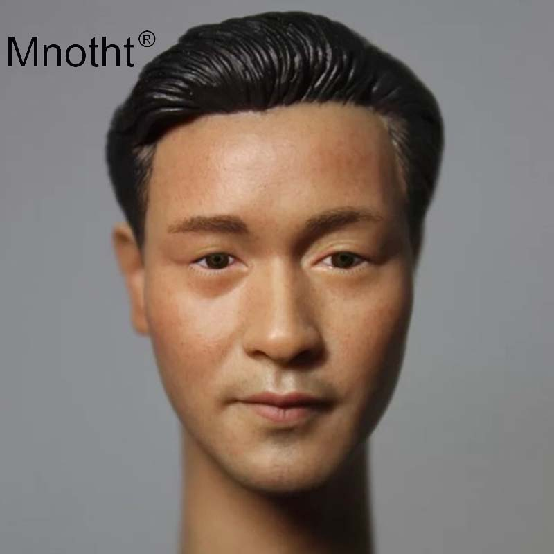 Leslie Cheung Head Carving 1/6 Scale Male Soldier Head Sculpt Asia Super Star Model for 12inch Action Figure Toys Collection 1 6 scale asia special force t01 peng yuyan figure head model for 12 action figure collection toys gift