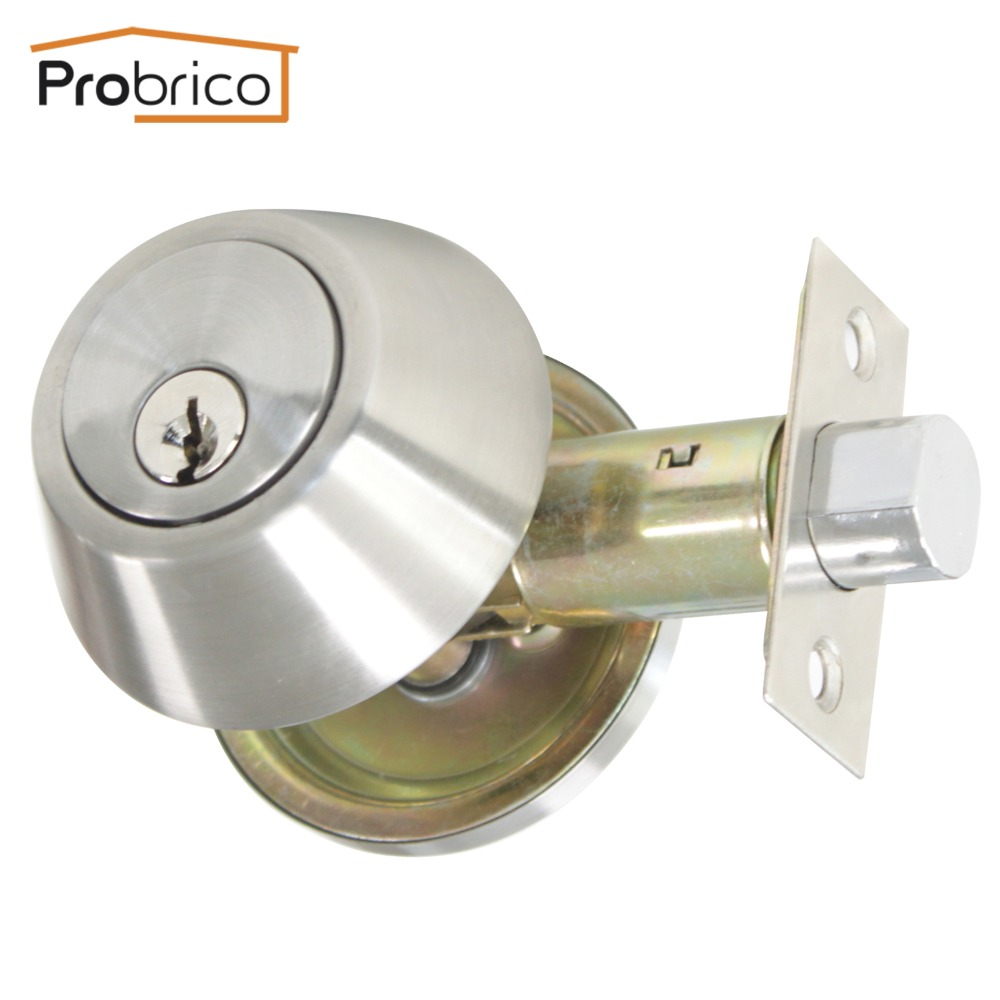 Probrico Lever Stainless Steel Keyed Alike Entrance Door Lock With Deadbolt Satin Nickel Door Handle Knob DL12061ET 101SN-in Locks from Home Improvement on ...  sc 1 st  AliExpress.com & Probrico Lever Stainless Steel Keyed Alike Entrance Door Lock With ...