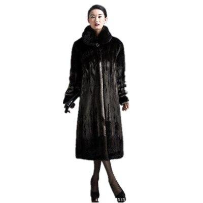 2018 Faux Bureau Fourrure D'hiver De Femmes Vison Femme Manteaux Porter Luxe Manteau M525 Rétro longue X SqXwI7
