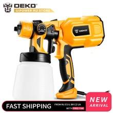 DEKO DKSG55K1 220 В ручной распылитель краски распылители 550 Вт Высокая мощность домашняя электрическая Аэрограф Легкое распыление 3 сопла