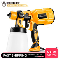 DEKO DKCX01 220V Handheld Spray Gun Paint Sprayers 550W High Power Home Electric Airbrush Easy Spraying 3 Nozzle