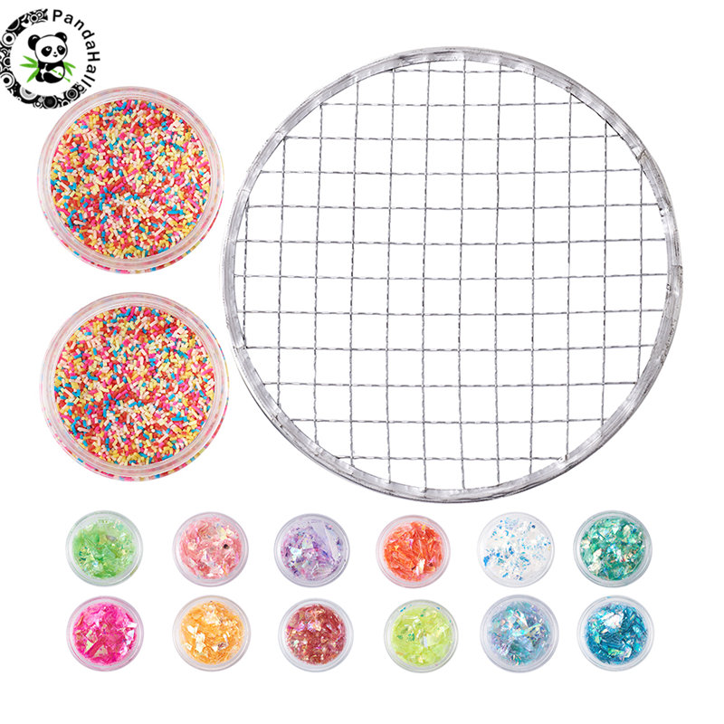 Novel Designs Pandahall Mixed Color Diy Crystal Clay Slime Mud Making Tools Kits For Jewelry Making 67x42mm Famous For Selected Materials Delightful Colors And Exquisite Workmanship