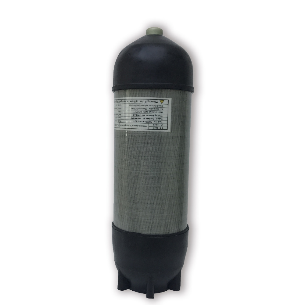 AC10991 Buy Direct From China 4500psi 9L HP Carbon Fiber SCUBA Diving Cylinder PCP Airsoft Rifle Bottle With Protect Rubber Caps