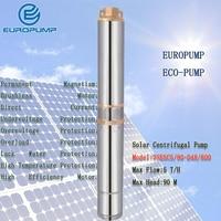 EUROPUMP MODEL(3SESC5/90 D48/800) 800w Water Pump Centrifugal Pump 48V Solar Powered DC Brushless Submersible Pump
