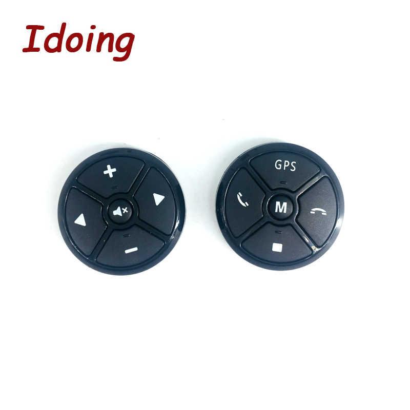 IDoing Tasto del Telecomando del Volante Dell'automobile DVD/2 Din Android Senza Fili di Bluetooth Universale di Controllo Remoto + GPS di Navigazione