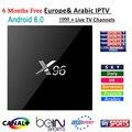 Caixa de tv android 6.0 S905X X96 KODI 4 K CAIXA de IPTV + 6 meses europa IPTV Arábica 1000 + Francês África do REINO UNIDO DE Itália Alemanha Espanha canais
