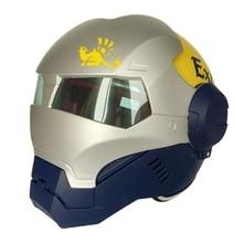 (1 шт.) высокое Качество 100% Оригинал Матовый Синий Серебра Masei Ironman 610 Шлемы Мотоцикл Череп Открытым Лицом Шлем Каско Capacete
